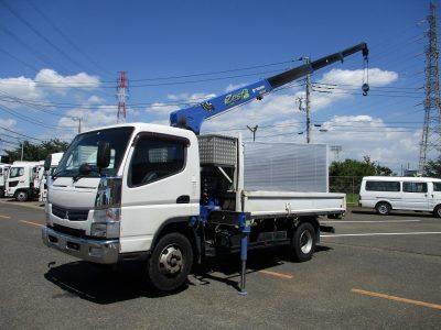 三菱 平成27年式 クレーン付 4段ラジコン 3t積載
